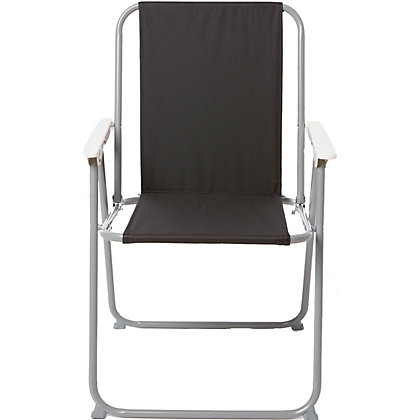 Image for Folding Picnic Chair - Black from StoreName