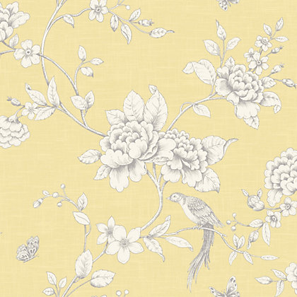 Image for Grandeco Ellis Yellow Wallpaper from StoreName
