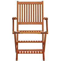 Austin Folding Wooden Chairs wth Arms (Pack of 2)
