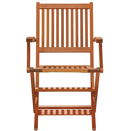 Image for Austin Folding Wooden Chairs wth Arms (Pack of 2) from StoreName