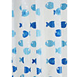 Wiggly Fish Vinyl Shower Curtain - White/Blue