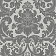 Fine Decor Portland Damask Black Wallpaper