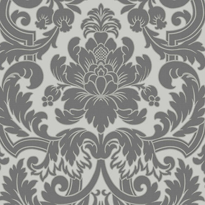 Image for Fine Decor Portland Damask Black Wallpaper from StoreName
