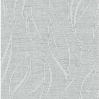 Image for Fine Decor Luxe Wave Silver Wallpaper from StoreName