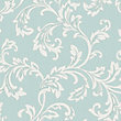 Fine Decor Bamburgh Scroll Teal Wallpaper