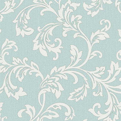 Image for Fine Decor Bamburgh Scroll Teal Wallpaper from StoreName