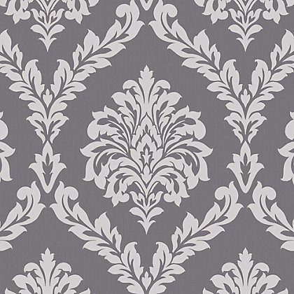 Image for Fine Decor Bamburgh Damask Black Wallpaper from StoreName