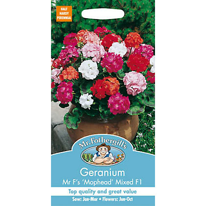 Image for Geranium Mr Fs Mophead Selection Mixed F1 (Pelargonium Zonale) Seeds from StoreName