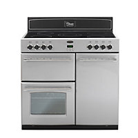 Belling Classic 90E Electric Range Cooker - Silver.