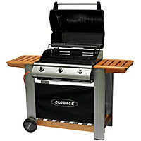 Outback Hooded 3 Burner Gas BBQ - Collect in Store