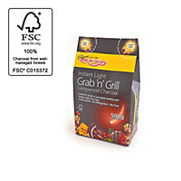 Bar-Be-Quick Instant Lighting Charcoal Grab 'N Grill - 500g