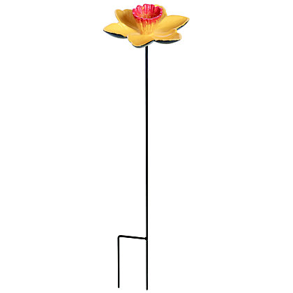 Image for Gardman Cast Iron Daffodil Feeder Dish - Yellow from StoreName