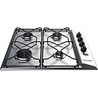 Indesit Aria PAA 642 IX/I WE Gas Hob - Stainless Steel