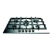 Indesit Aria THP 751 W/IX/I Gas Hob - Stainless Steel