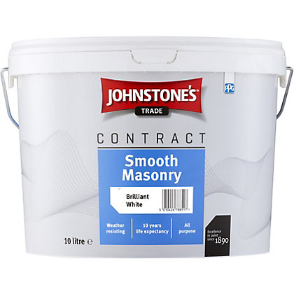 Image for Johnstones Trade Contract Smooth Masonry Brilliant White - 10L from StoreName
