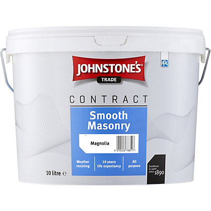 Image for Johnstones Trade Contract Smooth Masonry Magnolia - 10L from StoreName