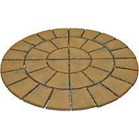 Brett Walton Paving Circle 1.85m 2.69sq m 36 Pack - Copper Glow