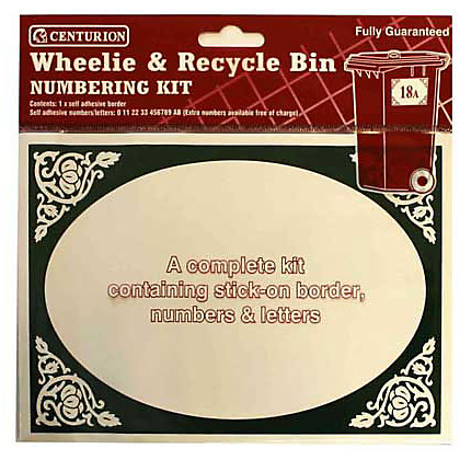 Image for Wheelie and Recycle Bin Numbering Kit - Green and White from StoreName
