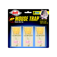 Doff Wooden Mouse Trap (Pack of 3)