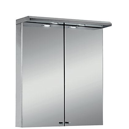 Image for Aurora Illuminated Cabinet - Stainless Steel from StoreName