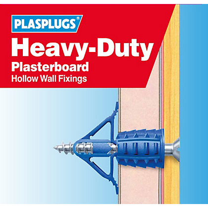 Image for Plasplugs HD Plasterboard Fixings Clip Pack from StoreName