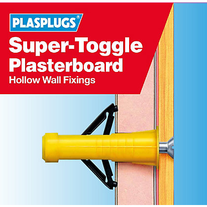 Image for Plasplugs Super Toggle Fixings Clip Pack from StoreName