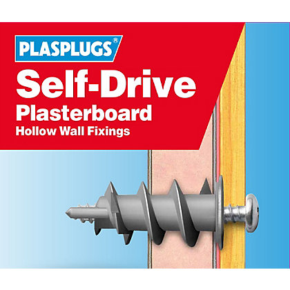 Image for Plasplugs Self Drive Fixings Clip Pack Drill Driver from StoreName