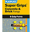 Plasplugs Yellow Solid Wall Fixings Clip Pack