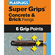 Plasplugs Brown Solid Wall Fixings Clip Pack