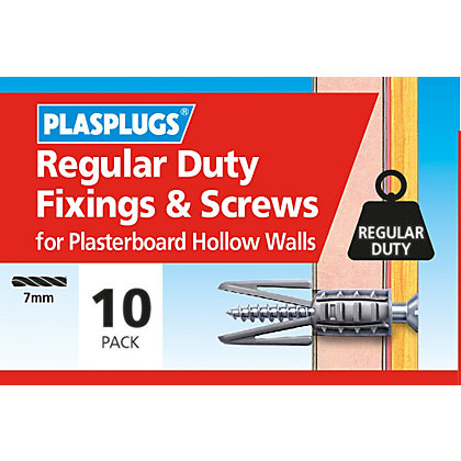 Image for Plasplugs Standard Plasterboard & Screws x 10 from StoreName