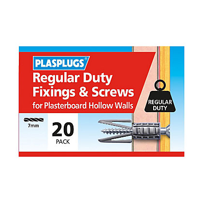 Image for Plasplugs Standard Plasterboard & Screws x 20 from StoreName