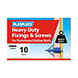 Plasplugs HD Plasterboard & Screws - 10 pack