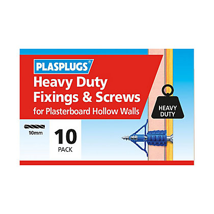 Image for Plasplugs HD Plasterboard & Screws - 10 pack from StoreName