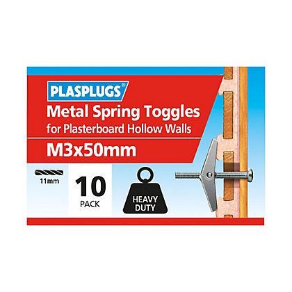 Image for Plasplugs Spring Toggle M3 x 50 from StoreName