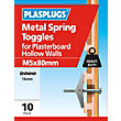 Plasplugs Spring Toggle M5 - 80 Pack