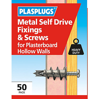 Image for Plasplugs Metal Self Drive & Screws x 50 from StoreName