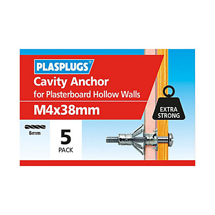 Image for Plasplugs Cavity Anchor M4 x 40 from StoreName