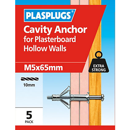 Image for Plasplugs Cavity Anchor M5 x 65 from StoreName