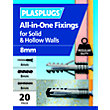 Plasplugs 8mm Multi Purpose Fixings