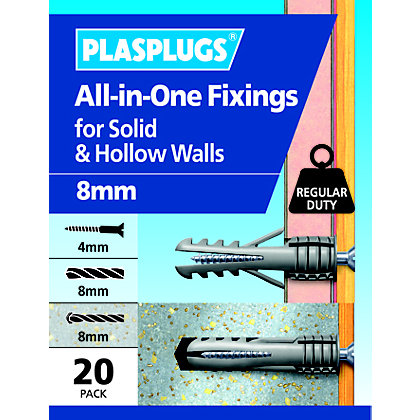 Image for Plasplugs 8mm Multi Purpose Fixings from StoreName
