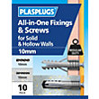 Plasplugs 10mm Multi Purpose & Screws x 10