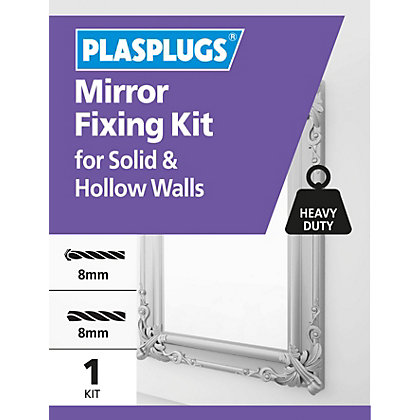 Image for Plasplugs Mirror Fixing Kit from StoreName