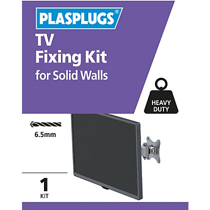 Image for Plasplugs TV Solid Fixing Kit from StoreName