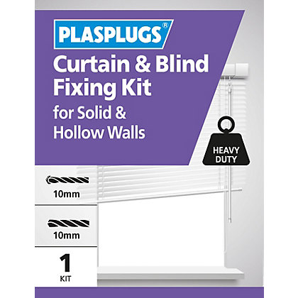 Image for Plasplugs Curtain & Blind Fixing Kit from StoreName