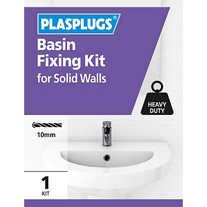 Image for Plasplugs Basin Fixing Kit from StoreName