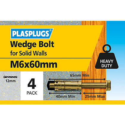 Image for Plasplugs Anchor Bolt M6 x 60mm from StoreName