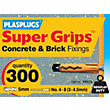 Plasplugs Yellow Plugs & Screws x 20