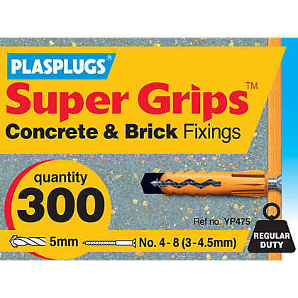 Image for Plasplugs Yellow Plugs & Screws x 20 from StoreName