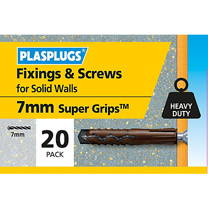 Image for Plasplugs Brown Plugs & Screws x 20 from StoreName