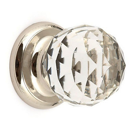Image for Cabinet Door Knob - Glass and Nickel - 32mm from StoreName